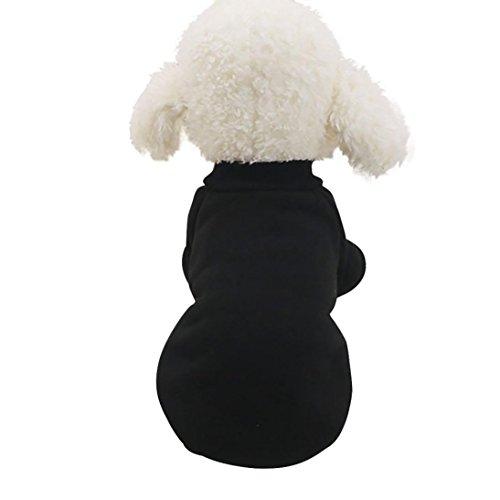 Vêtement Animaux, AIMEE7 Unisexe Vêtements Pour de Compagnie Chiot Chien Manteau Robe Pull (XXL, Noir)