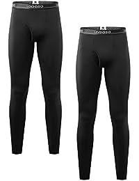 LAPASA Pantalón Térmico para Hombre (Malla térmica) Pack de 2/Pack de 1 -Brushed Back Fabric Technique- Calças térmicas M10/M56