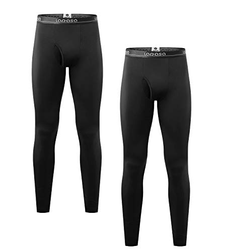 LAPASA Pantalón Térmico Pack de 2 para Hombre (Malla térmica). -Brushed Back Fabric Technique- Calças térmicas M10 (XXL, Special Black (Negro))