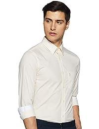 US Polo Association Men's Solid Regular Fit Formal Shirt
