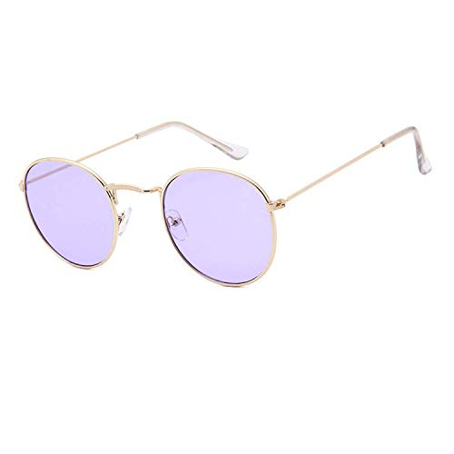 WERERT Sportbrille Sonnenbrillen Metal Round Vintage Sunglasses Women Mirror Classic Retro Street Beat Glasses Men Glasses Driving