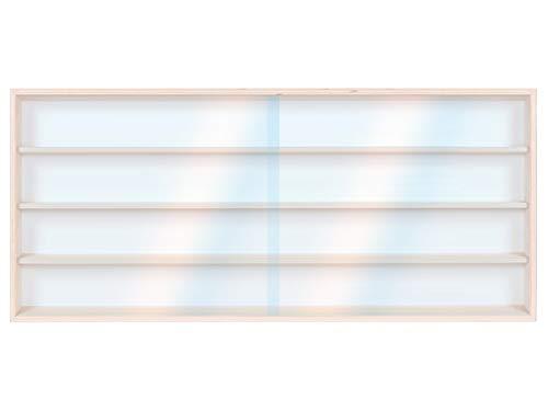 Alsino Setzkasten Wandvitrine Sammlervitrine v-120.4 - Maße: 120 cm x 39 cm x 8,5 cm - 2 Plexiglasscheiben, für Steine, Figuren & Sammler