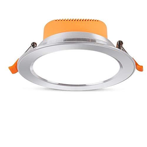 Mumnk 12W LED empotrable Downlight Luz de Techo Panel de Aluminio Redondo...