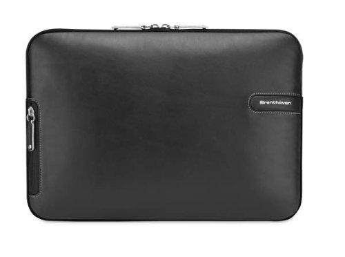 Brenthaven Laptop-taschen ('Brenthaven-Leather ProStyle Sleeve II 15,4Zoll Bezug schwarz-Taschen von Laptops (39,1cm (15,4Zoll), Tasche, Schwarz, Leder, MacBook 15,4))