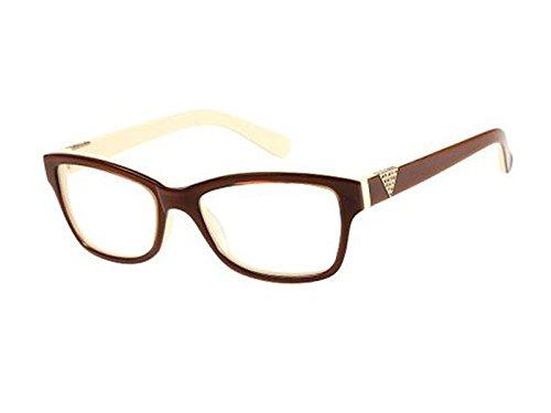 GUESS Brillengestell GU 2294 Braun/Cremefarben 53MM