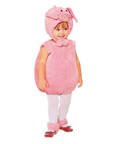 Schweinchen Für Kleinkind Kostüm - Horror-Shop Kleinkind Schweinchen Kostüm Set für Karneval und Halloween 2-4 Jahre