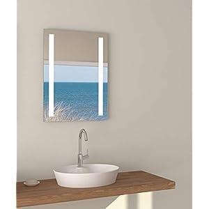 Talos Horizon LED Badspiegel, Glas, Aluminium, 4200K, 50x70cm