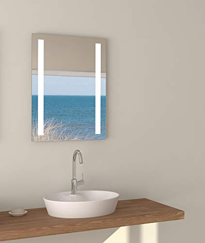 Talos Horizon LED Badspiegel, Glas, Aluminium, 4200K,
