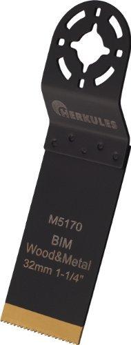 Herkules M5180 Lame de scie M42 bimétal Mtitane revêtement nitrure pour ponceuse multifonction sur bois, agglos, plastique, aluminium, tôle d'acier, métaux non ferreux 54 x 45 x 0,8 mm 18 dpp