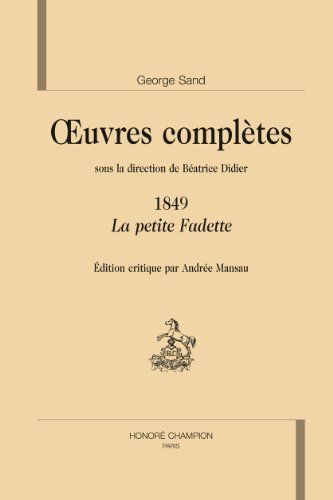 Oeuvres complètes 1849 La Petite Fadette
