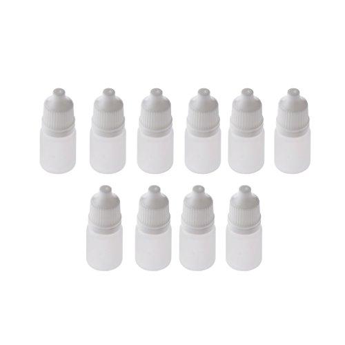 Gazechimp 10pcs 5ml Tropfflasche, Squeezable, für Labor Lösungsmittel, helle Öle, Farbe, Wesentliches, Augentropfen, salziges
