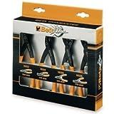 Beta Set 4 Pinze Seeger anelli elastici becco dritto piegato fori albero 1031/S4