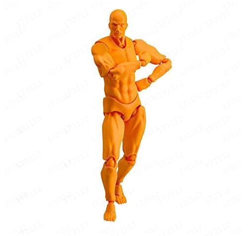 YA-Uzeun Zeichnungsfiguren Malen Requisiten Kunststoff PVC Körper Simulation Figur Modell Mannequin Mann Frau Kits für Künstler Action Maler Sketcher woman E:Orange (men) Pole Mount Adapter Kit