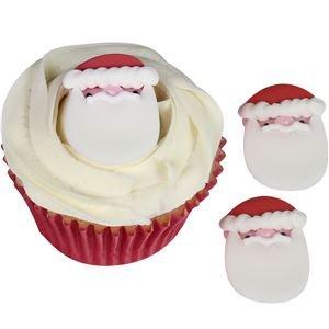 Vater Weihnachten Zucker Kuchen Topper (Pack von 5) (Pick In Plüsch)