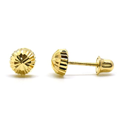 Trendy Earrings by WSI  -  14 Kt  Gelbgold     keine Angabe  - Diamant-ohrringe Screwback Für