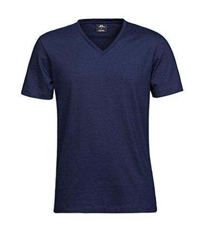 """Herren V-Neck T-Shirt """"Fashion Sof-Tee"""" Navy"""