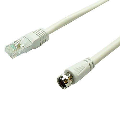 Lineaire tvrfa5Kabel, Koaxial Stecker: Weiblich/RJ45Stecker 0,50m weiß (Koaxial-kabel-tv)