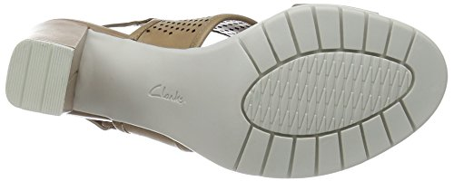 Clarks Pastina Malory Damen Slingback Pumps Beige (Sand Leather)