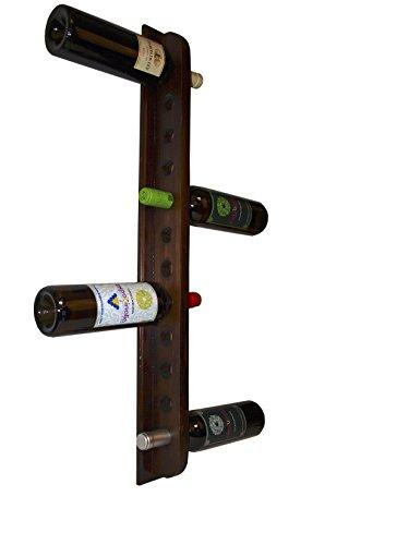 Expovinalia 250530Wand-Weinregal, Holz, Farbe Nussbaum Dunkel
