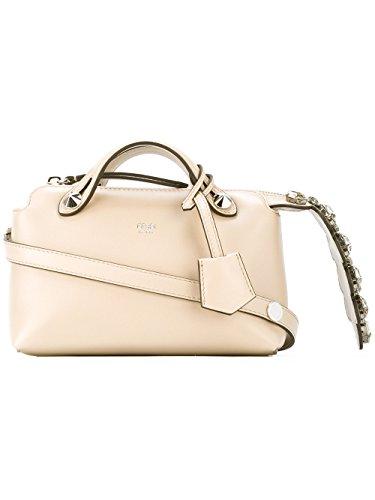 Fendi-Womens-8BL135SV9F07HL-Beige-Leather-Handbag