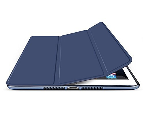 Cazcase-PU-Leather-Translucent-Back-Smart-Flip-Case-Cover-For-Apple-New-iPad-pro-105-inch-A1701-A1709Ipad-Pro-105-Case-Cover-Blue