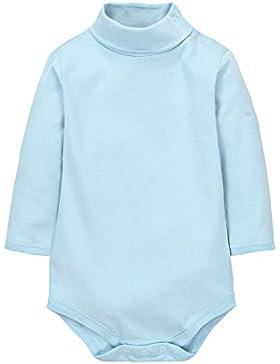 CuteOn Baby Jungen Mädchen Einfarbig Basic Turtleneck Baumwolle Bodysuit Strampler -Verschiedene Farben Neugeboren...
