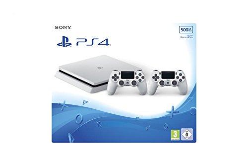 PlayStation 4 - Konsole (500GB, weiß, slim) inkl. 2. DualShock Controller - Destiny Konsole Playstation 4