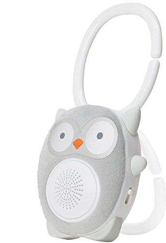 Einschlafhilfe Baby Und Kleinkind - White Noise Bluetooth Lautsprecher Als Schlafhilfe - Tragbarer Lautsprecher, Wiederaufladbar, Optimal Für Zuhause Und Unterwegs | WavHello SoundBub - Ollie die Eule, Grau