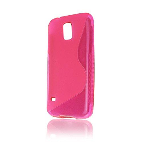 Rose chaud S Line Wave Coque arrière souple en gel TPU pour Samsung Galaxy S5Housse Étui Coque