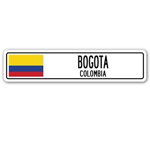 Zitat Aluminium Schild Bogotá, Kolumbien Straßenschild kolumbianischen Flagge City Country Road Wand Geschenk Metall Geschenk Schild, Dekoration