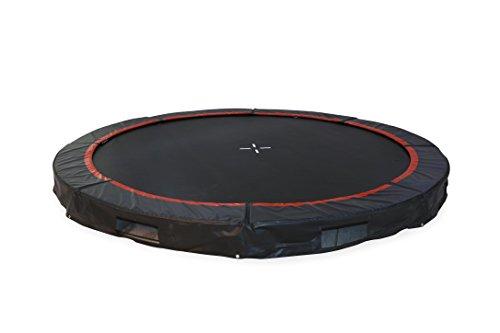 small foot 10684 In- Ground Trampolin für den Garten, Leichter und schneller sowie gefahrloses Hüpfen durch niedrigen Aufbau, fördert den Gleichgewichtsinn