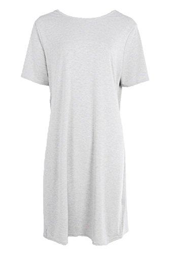 Damen Grau Tall Aubrey Strandkleid Mit Drehung Und Offenem Rücken Grau
