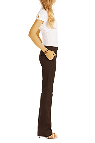 bestyledberlin -  Pantaloni  - Jeans boot cut - Donna Dunkelbraun