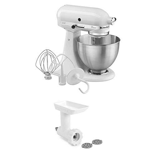 KitchenAid 5K45SSEWH robot da cucina classico, 4.3 L, Bianco