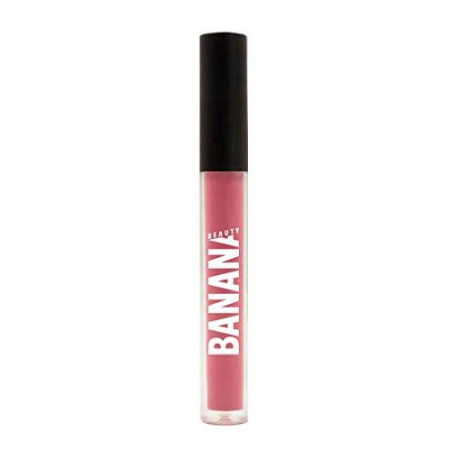 Banana Beauty Oh-La-Licious (3 ml) - Semi Matte Liquid Lipstick - kussechter Lippenstift matt für volle Lippen - langanhaltender Lipgloss matt - knalliges Pink -