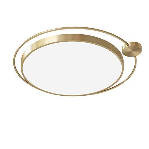 Gold Spur Nordic runde Eisen-Deckenleuchte Personality LED Schlafzimmer Wohnzimmer Kind Deckenlampe Moderne Licht Leuchte (Tricolor,40cm) -