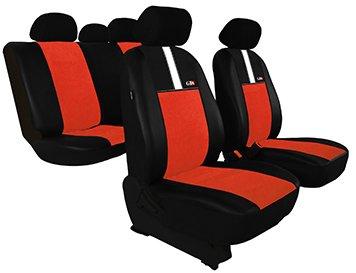 Housse de siège de voiture universelles GT8 (ECO-CUIR + ALKANTARA ) - AUDI ( 50 - 80 - 90 - 100 - A2 - A3 - A4 - A6) (Terra cota)