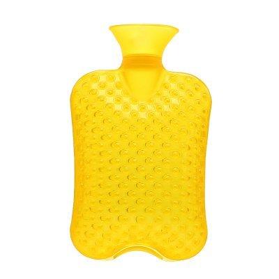 Massage-Wärmflasche aus PVC | geruchsfrei | große Öffnung | lindert Nacken-, Rücken- und Schulterschmerzen | Wärme-Therapie