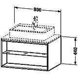Duravit Waschtischunterschrank wandh. X-Large 548x800x440mm 1 offenes Fach, weiss hochglanz, XL67180