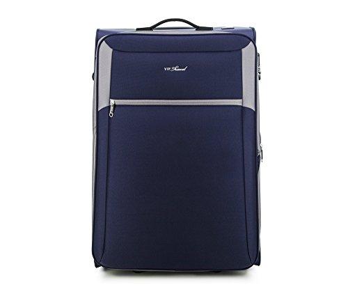 WITTCHEN Großer Koffer | 73x47x33cm, 96 L, 3 KG | Material: Polyester, Dunkelgrau | Kollektion: VIP COLLECTION - V25-3S-233-24