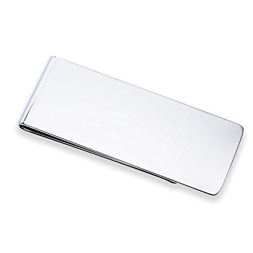 Paletti - ferma banconote semplice e lucido in acciaio inox, 21 x 56 x 5 mm, senza banconote