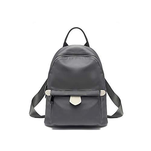 Oxford Backpack Women Fashion Borsa a tracolla per studenti borsa a tracolla grande capacità Neutral Grey - Tromba