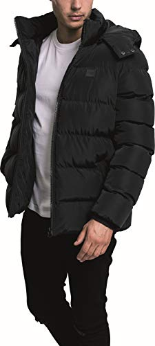 Urban Classics Herren Hooded Puffer Jacket Jacke, Black, L