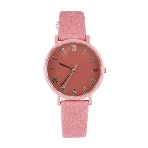 UINGKID Damen Armbanduhr Analog Quarz Mode Temperament Candy Farbe Dame Einfache Zifferblatt Roman Scale Quarz Uhr
