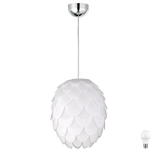 Blätter Decken Beleuchtung Pendel Lampe Hänge Strahler Leuchte im Set inklusive LED Leuchtmittel