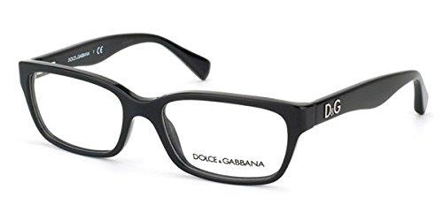 Dolce & Gabbana Für Frau D&g 1249 Glitter Black Kunststoffgestell Brillen, 53mm