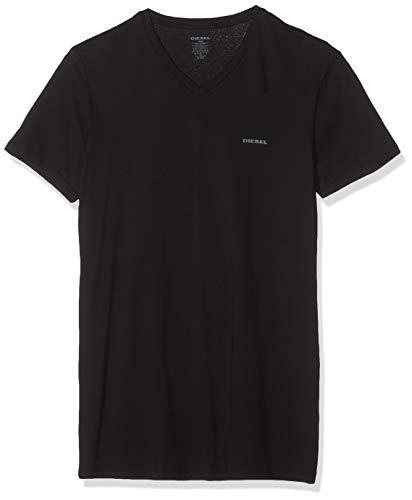Baumwolle Mit V-ausschnitt-boxer (Diesel Herren T-Shirt UMTEE-JAKE-VTHREEPAC (3er Pack), Schwarz (Black 900), S)