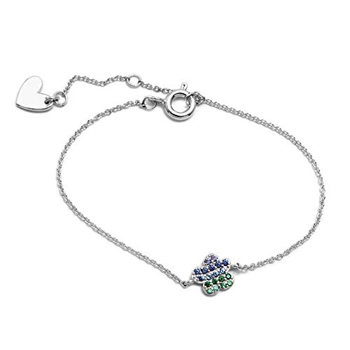 925m Silber Armband Gesetz Agatha Ruiz de la Prada 14cm. Regenbogen-cloud Sammlung Zircons [AC1573]