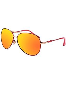 Gafas de sol de moda señoras/Gafas de sol color de personalidad/Mercurio polarizado espejo rana