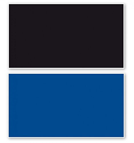 Fotorückwand Schwarz/Blau beidseitig 150x60cm 2in1 Rückwandposter Rückwand Folie